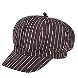 VBIGER 帽子 メンズ レディーズ キャスケット ワークキャップ ニュースボーイキャップ カジュアル アウトドア(コーヒー)