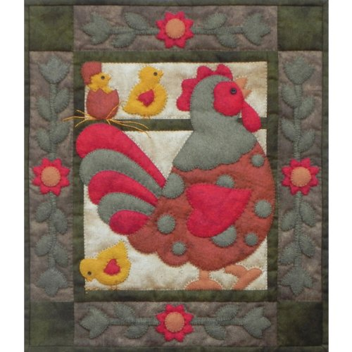 Spotty Rooster Wall Quilt Kit-13