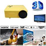 Portable Mini Projector LCD LED Portable HD Home Theater (200 Lumens, 648— 480, VGA HDMI AV USB SD Manual Focus... - B01ESK3KE0