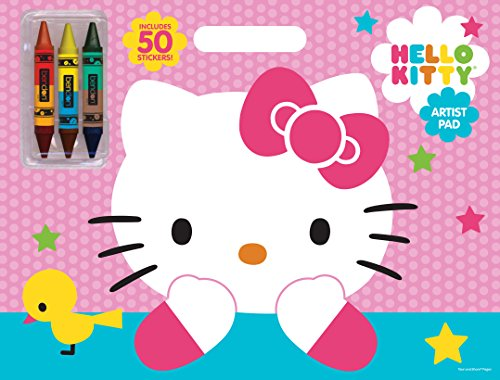 Bendon Publishing Hello Kitty Artist Pad with Double-Ended Crayons