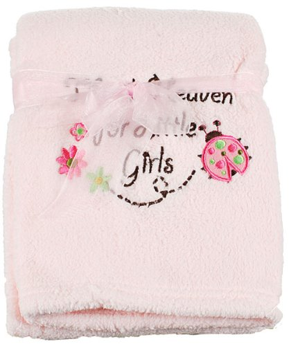 "Little Beginnings ""Thank Heaven for Little Girls"" Baby Blanket - light pink, one size - 1"