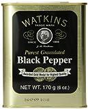 Watkins Spice Tin, Granulated Black Pepper, 6 Ounce