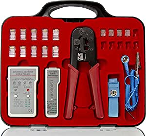 buy network cable installation crimping tool kit rj45 rj11 online at low prices in india. Black Bedroom Furniture Sets. Home Design Ideas