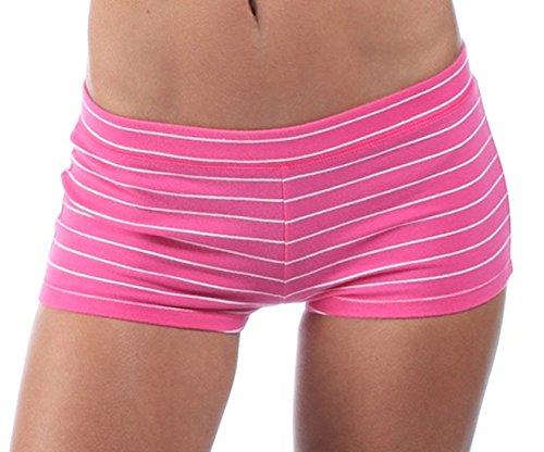 abercrombie-fitch-damen-yoga-shorts-rosa-gestreift-grosse-m