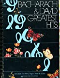 BACHARACH & DAVID - GREATEST HITS : One Book for Piano, Organ, Vocal & Guitar