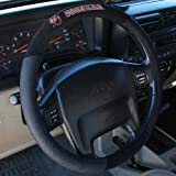 51lQ6ZTfsTL. SL160  NCAA Oklahoma Sooners Poly Suede Steering Wheel Cover