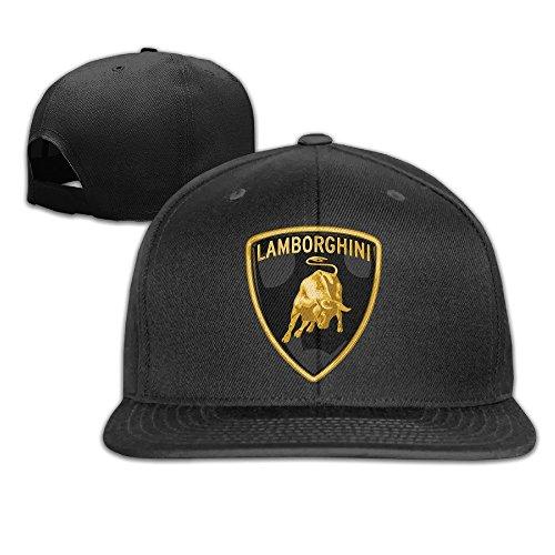 MaNeg Lamborghini Logo Unisex Fashion Cool Adjustable Snapback Baseball Cap Hat One Size Black (Louis Vuitton Cap compare prices)