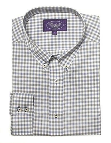 Bestall Men's Long Sleeve Adres Dress Shirt, Small, Navy