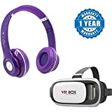 Captcha Apple Iphone 5c Compatible Certified S460 Sweatproof Stereo Bluetooth Headphone With 3D Box 2.0 Virtual Reality Glasses Vr Headsets For 4.7 To 6 Inch Screen Phones (One Year Warranty)