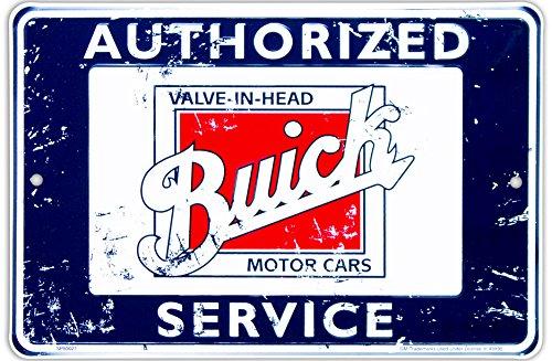 buick-authorized-service-targa-placca-metallo-piatto-nuovo-30x20cm-vs4229-1