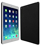Skinomi® TechSkin - Apple iPad Air Wi-Fi + LTE (5th Generation) Screen Protector Ultra Clear Shield + Black Carbon Fiber Full Body Protective Skin + Lifetime Warranty