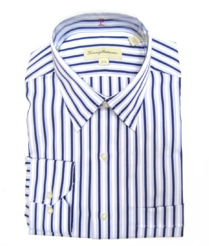 Hgawewd tommy bahama men 39 s dress shirt in white navy for Blue striped shirt mens