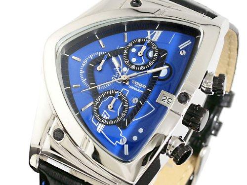 [コグ]COGU アシンメトリー クロノグラフ 腕時計 C43-BL ブルー