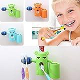 ZuoLan 3 in 1 Zahnpastaspender mit Zahnbürstenhalter und Zahnputzbecher für