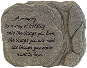 Carson Home Accents Memorial Stone, 9-Inch High, A Memory