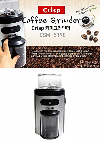 Crisp Electric Coffee Grinder Hand Mill Control Dosing Stainless Steel CSM-5198