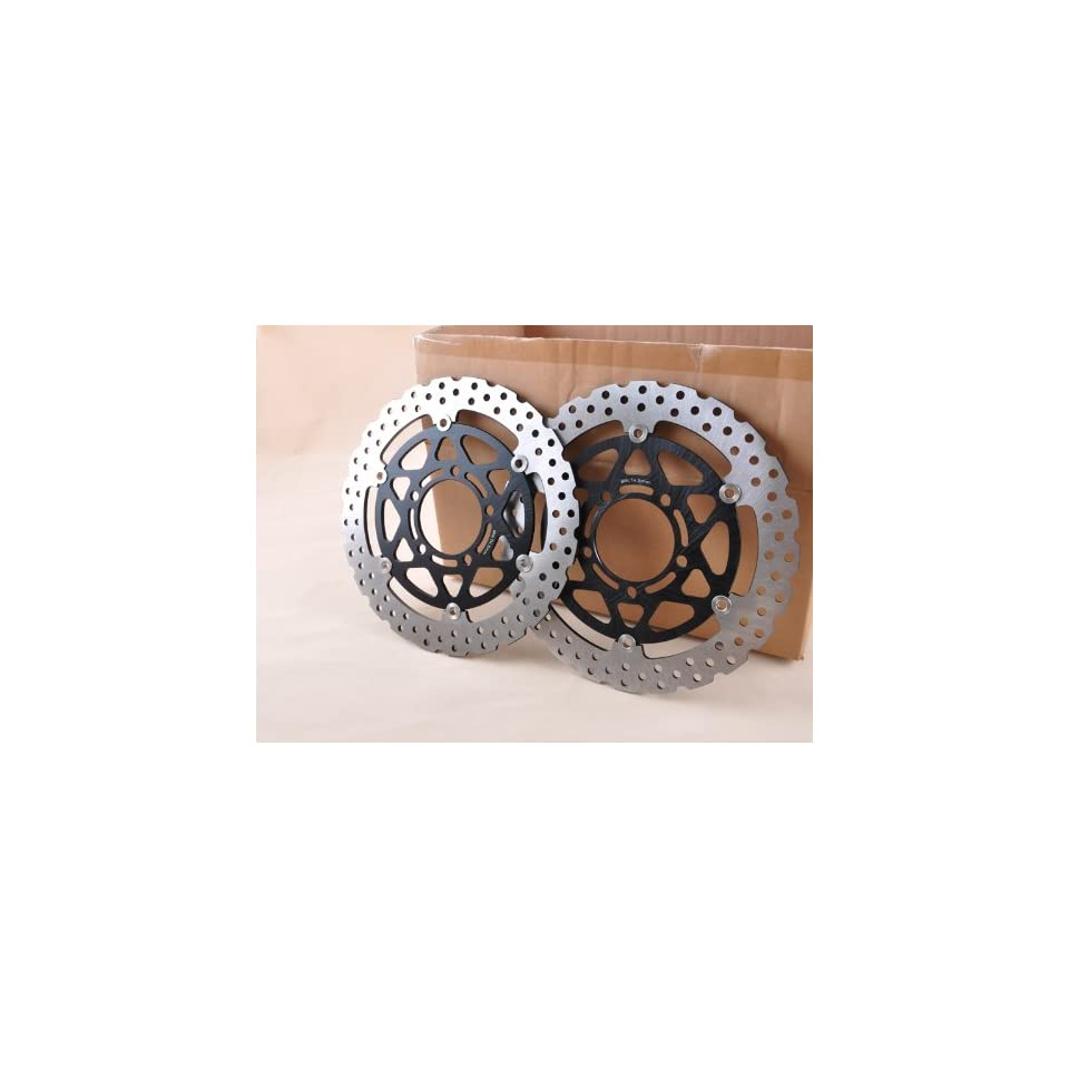 Motorcycle Front Brake Disc Rotor Black For ZX 6R 636 6RR ZX10R Z 1000