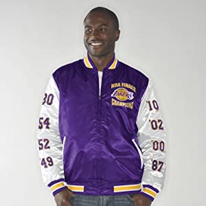 Los Angeles Lakers Up the Gut NBA Finals Champs Commemorative Satin Jacket by G-III Sports