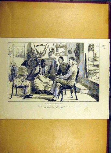 1884 War Soudan Spies Sinkat Africa Old Print