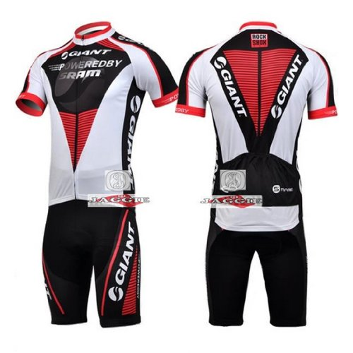 GIANT Short Sleeve Cycling Jerseys Wear Clothes Bicycle/ Bike/ Riding Jerseys + Bib Pants Shorts Size L