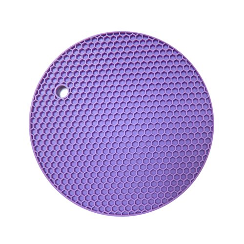TIAMALL Silicone Pot Holder Trivet Mat Baking Gadget Kitchen Table Mat Waterproof Heat Insulation Non-Slip Trivet Tableware Pad Coasters(Purple)[Set of 2] (Kitchen Ware Purple compare prices)