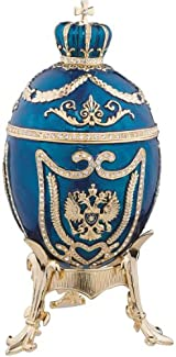 Royal Collection Faberge Style Enameled Eggs