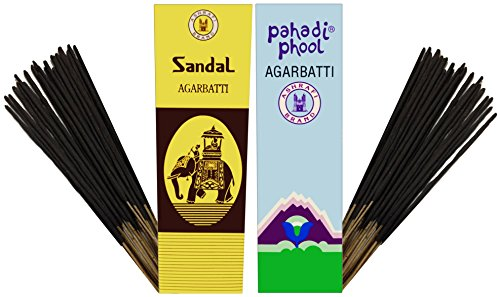 PRS SANDAL-PAHADI PHOOL Incense Stick (Pack Of 10 Agarbatti - 5 Each)
