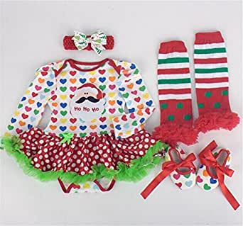 Dorara(TM) Baby Girls Romper Dress for Christmas Party Costume Santa Claus