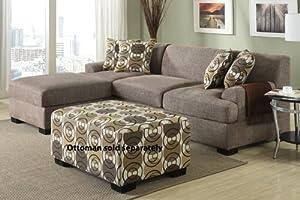 2pc Reversible Sectional Sofa in Slate Linen
