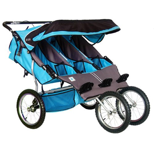 BebeLove USA Triple Jogger, Blue
