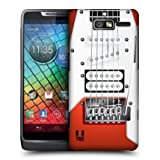 Head Case Orange Electric Guitar Design Back Case Cover For Motorola Razr I Xt89