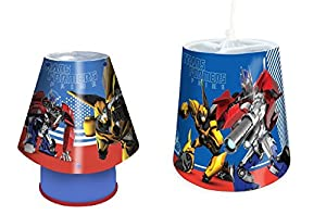 "Spearmark ""Transformers"" Lamp and Shade Set, Blue from Spearmark"
