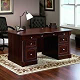 Sauder Palladia Executive Desk, Cherry