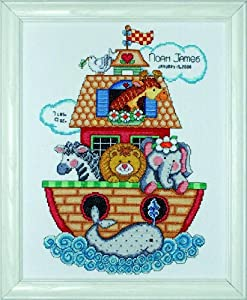 Tobin Noah's Ark Birth Record Counted Cross Stitch Kit