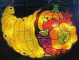 "Northlight Seasonal 10856708 Lighted Thanksgiving Cornucopia Window Silhouette Decoration, 16"""
