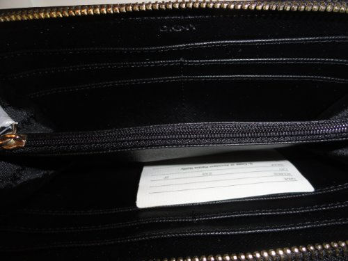 DKNY DKNY Town & Country W/Vintage Large Zip Around Wallet in Black