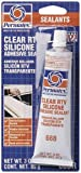 Permatex 80050-12PK Clear RTV Silicone Adhesive Sealant - 3 oz., Pack of 12