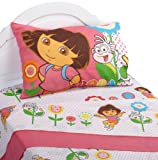 Dora the Explorer Cheerful Bloom Twin Sheet Set