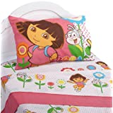 Dora the Explorer Cheerful Bloom Twin Sheet Set ~ Dora the Explorer
