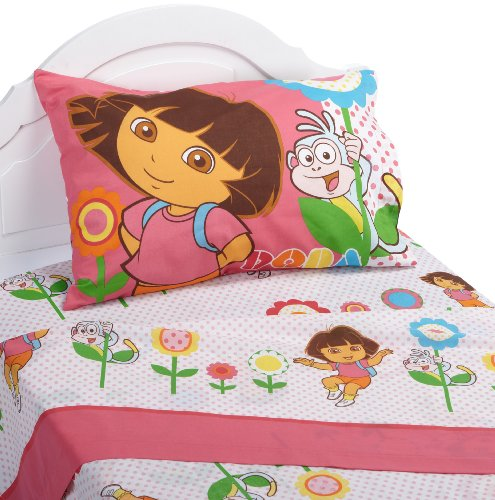 Dora the Explorer Cheerful Bloom Sheet Set