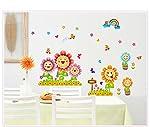 Oren Empower Oren Empower Multicolor Smile Sunflower decorative large wall sticker for kid room x 60 cm)