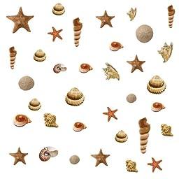 RoomMates RMK1259SCS Sea Shells Peel & Stick Wall Decals
