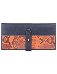 Leder Mart 2403 ORG Women's Wallet (Black & Orange, FL016 ORG)