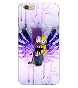 PrintDhaba Minion D-3526 Back Case Cover for APPLE IPHONE 6 PLUS (Multi-Coloured)