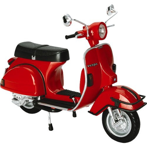 New Ray Vespa 1978 P200E Scooter Replica Motorcycle Toy - Red / 1:12 Scale