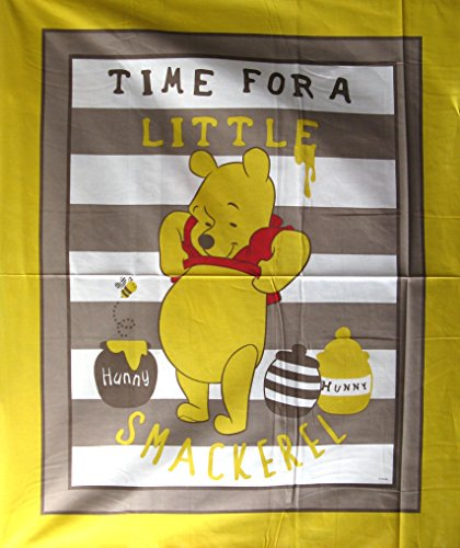 """43"""" Wide Winnie The Pooh Story Of Hunny Cotton Fabric By The Panel front-964422"""