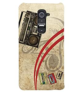PRINTSWAG TAPE RECORDER Designer Back Cover Case for LG G2