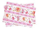 Kidsランチョンマット 2枚セット スタンダードタイプ お花大好きプリティ動物フレンド(ピンク) 日本製 N3649000