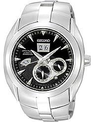 Seiko SNP031 Mens Kinetic Arctura Perpetual Calendar Black Dial