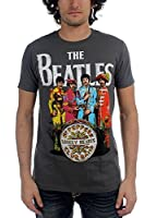 Beatles, The - - Hommes Sgt Pepper T-shirt à charbon